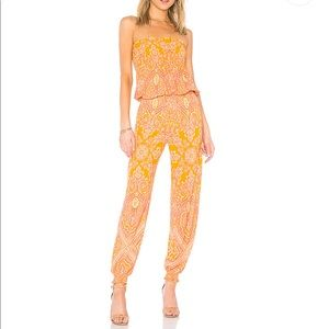 FREE PEOPLE Thinking Of You Smocked Jumpsuit NWT